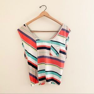 Volcom Colorful Striped Casual Shirt / Tank Top